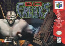 Box cover for BioFreaks on the Nintendo N64.