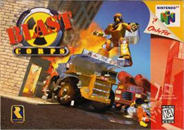 Box cover for Blast Corps on the Nintendo N64.