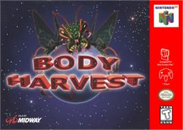 Box cover for Body Harvest on the Nintendo N64.