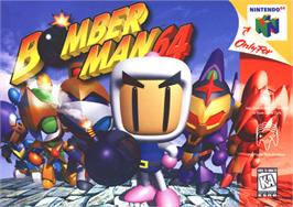 Box cover for Bomberman 64 on the Nintendo N64.