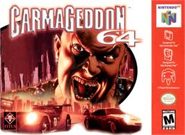 Box cover for Carmageddon 64 on the Nintendo N64.