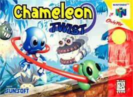 Box cover for Chameleon Twist on the Nintendo N64.