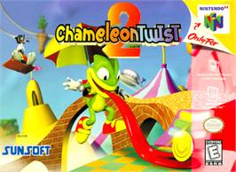 Box cover for Chameleon Twist 2 on the Nintendo N64.
