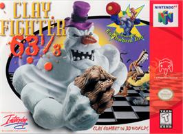 Box cover for Clay Fighter 63 1/3 on the Nintendo N64.