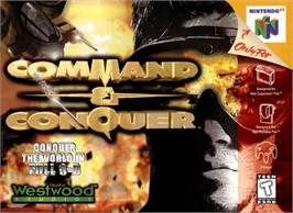 Box cover for Command & Conquer on the Nintendo N64.