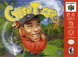Box cover for Cyber Tiger on the Nintendo N64.