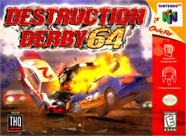 Box cover for Destruction Derby 64 on the Nintendo N64.