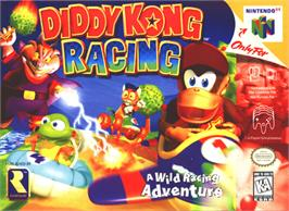 Box cover for Diddy Kong Racing on the Nintendo N64.