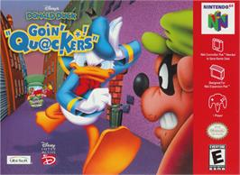 Box cover for Donald Duck: Goin' Quackers on the Nintendo N64.