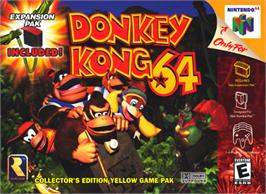 Box cover for Donkey Kong 64 on the Nintendo N64.