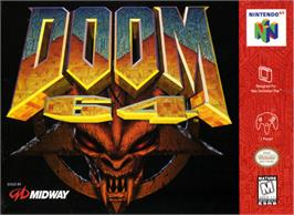 Box cover for Doom 64 on the Nintendo N64.