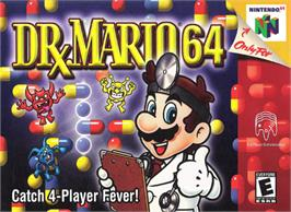 Box cover for Dr. Mario 64 on the Nintendo N64.