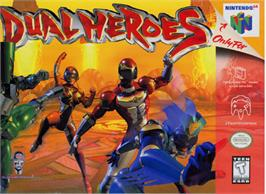 Box cover for Dual Heroes on the Nintendo N64.
