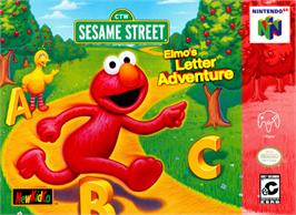 Box cover for Elmo's Letter Adventure on the Nintendo N64.