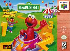 Box cover for Elmo's Number Journey on the Nintendo N64.