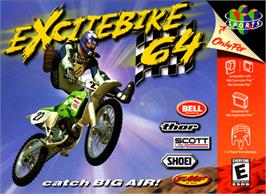 Box cover for Excite Bike 64 on the Nintendo N64.