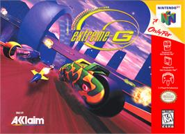 Box cover for Extreme G on the Nintendo N64.