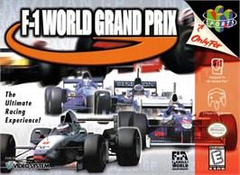 Box cover for F-1 World Grand Prix on the Nintendo N64.