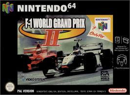 Box cover for F-1 World Grand Prix 2 on the Nintendo N64.