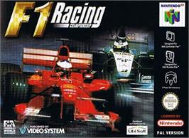 Box cover for F1 Racing Championship on the Nintendo N64.