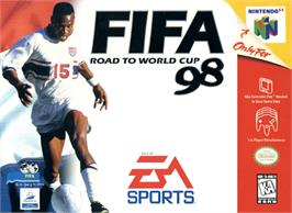 Box cover for FIFA 98: Road to World Cup on the Nintendo N64.