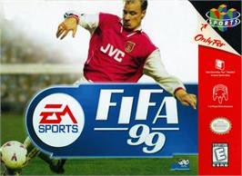 Box cover for FIFA 99 on the Nintendo N64.