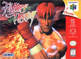 Box cover for Fighters Destiny on the Nintendo N64.