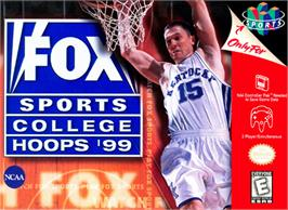 Box cover for Fox Sports College Hoops '99 on the Nintendo N64.