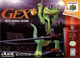 Box cover for Gex 3: Deep Cover Gecko on the Nintendo N64.