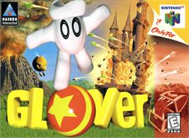 Box cover for Glover on the Nintendo N64.