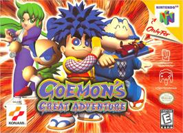 Box cover for Goemon's Great Adventure on the Nintendo N64.