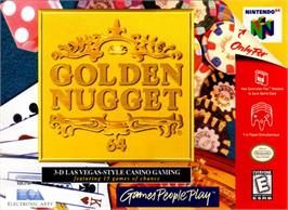 Box cover for Golden Nugget 64 on the Nintendo N64.