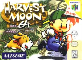 Box cover for Harvest Moon 64 on the Nintendo N64.