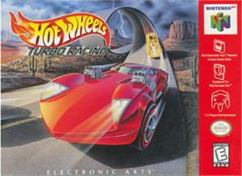 Box cover for Hot Wheels: Turbo Racing on the Nintendo N64.