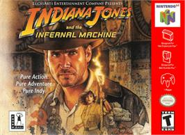 Box cover for Indiana Jones and the Infernal Machine on the Nintendo N64.