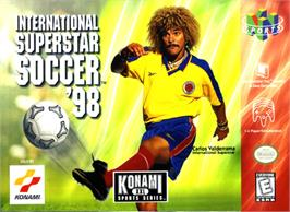 Box cover for International Superstar Soccer '98 on the Nintendo N64.