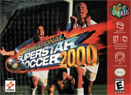 Box cover for International Superstar Soccer 2000 on the Nintendo N64.