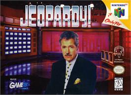 Box cover for Jeopardy on the Nintendo N64.