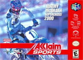 Box cover for Jeremy McGrath Supercross 2000 on the Nintendo N64.
