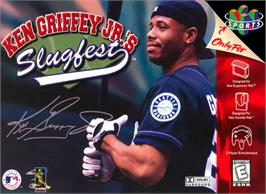Box cover for Ken Griffey Jr.'s Slugfest on the Nintendo N64.