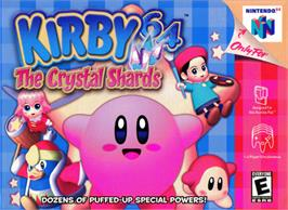 Box cover for Kirby 64: The Crystal Shards on the Nintendo N64.