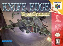 Box cover for Knife Edge: Nose Gunner on the Nintendo N64.