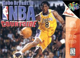 Box cover for Kobe Bryant's NBA Courtside on the Nintendo N64.