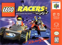Box cover for LEGO Racers on the Nintendo N64.