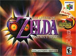 Box cover for Legend of Zelda: Majora's Mask on the Nintendo N64.