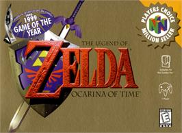 Box cover for Legend of Zelda: Ocarina of Time on the Nintendo N64.