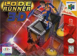 Box cover for Lode Runner 3D on the Nintendo N64.