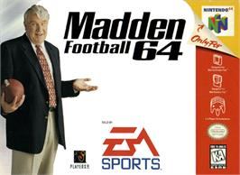 Box cover for Madden Football 64 on the Nintendo N64.