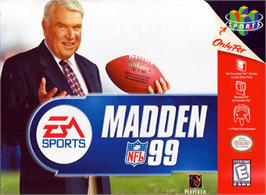 Box cover for Madden NFL '99 on the Nintendo N64.