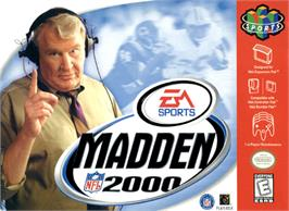 Box cover for Madden NFL 2000 on the Nintendo N64.